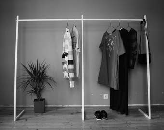 Clothing Rack // Clothes rail // Wardrobe // Shop display // Garment rack // Durable // Quick and Easy Assembly // Industrial wardrobe