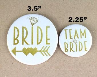gold Bachelorette Party pin,wedding pin,team bride pin, bridal party pin,bride pin,team bride button pin, white and gold theme pin,