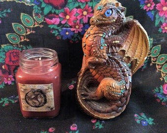 Dragon's Blood Soy Wax Candle - 3 ounce Victorian Apothecary Jar