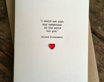Designer Birthday Wedding Christmas Card Wife F. Scott Fitzgerald Quote Romantic WIFE HUSBAND Wedding Day Girlfriend Boyfriend Soulmate Love