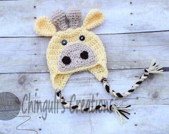 Baby Crochet Giraffe Hat Newborn Crochet Giraffe Hat Newborn Giraffe Hat