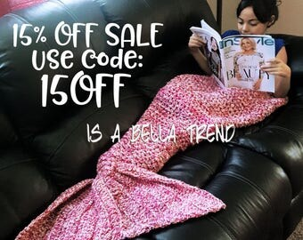 Crochet Mermaid Tail Blanket. Mermaid tail blanket kids.  Adult mermaid tail blanket. Snuggle sack. Crochet mermaid. Girl Birthday gift.