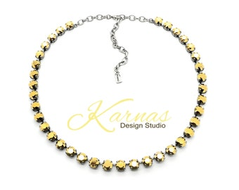 ALL IS BRIGHT 8mm Crystal Chaton Necklace Made With Swarovski Elements *Pick Your Finish *Karnas Design Studio *Free Shipping*