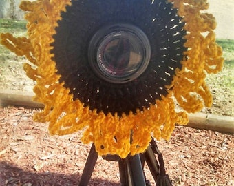 Giant Camera Lens Sunflower in Goldenrod Yellow