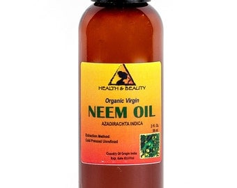 2 oz NEEM OIL UNREFINED Organic Carrier Cold Pressed Virgin Raw Pure