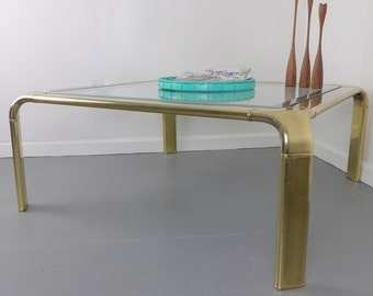 brass coffee table | etsy