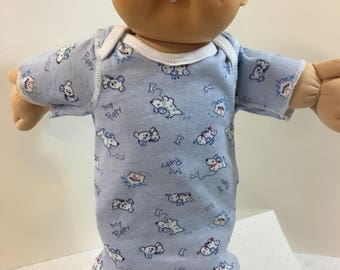 """Sale - Cabbage Patch 16"""" BABY BOY Doll Nightgown, Cute Blue """"My PUPPY"""" Nightshirt, 16"""" 'Older' Cabbage Patch Baby Doll, I Love My Puppy Dog!"""