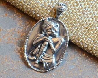 Sterling Silver Buddha Pendant, Resting Buddha,Sitting Buddha, Buddha Pendants, Buddha Jewelry, Resting Buddha, Spiritual Jewelry, BS14-xxx