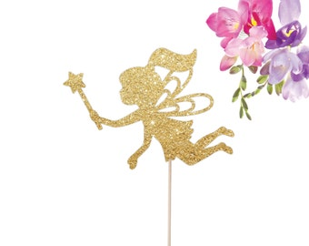 Fairy Cake Topper - Fairy Wand Cake Topper - Fairy Princess Cake Topper - Fairy Birthday Party