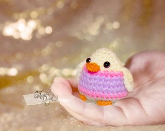 Easter Chick Ornament Gift | Easter Egg Hunt Party Favor | Crochet Amigurumi Chicken decoration | READY TO SHIP
