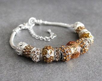 November Birthstone Bracelet, Citrine Bracelet, November Bracelet, Citrine Birthstone Bracelet, Citrine Bead Bracelet, Citrine Bangle