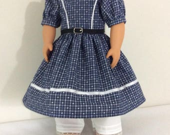 Blue Doll Colonial Dress with Bloomers option