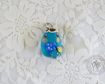 Cute Polymer Clay Miniature Monster Charm / Adorable Mini Creature Pendant