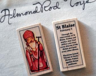 St Blaise Patron Saint Block