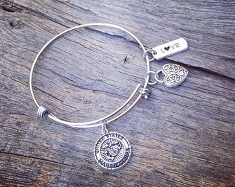 Marine Corps Charm Bangle Bracelet | Marine Corps Jewelry | Marine Corps Wife Jewelry | Marine Corps Girlfriend Jewelry | USMC Jewelry Gift