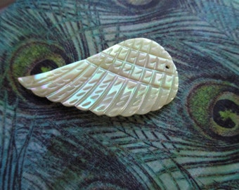 Genuine Mother of Pearl Irridescent  Wing  Pendant