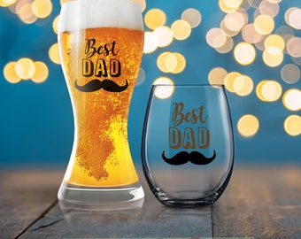 Best Dad Glass,   Gift, Dad Beer Glass, Beverage Cold Brew Father, Dad Wine Glass, Dad Beer Glass, Cool Dad, Dad Mug, Father Coffee