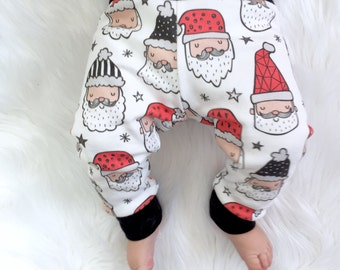Christmas baby leggings, santa leggings, joggers, Hipster leggings