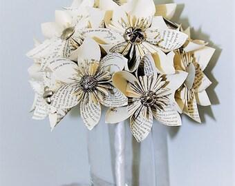Wedding Bouquet, Wedding Flowers, Book Page Bouquet, Kusudama Bouquet, Origami Bouquet, Paper Bouquet, Unique Bouquet, Handmade Bouquet