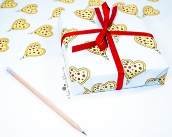 Gift wrapping etsy pizza gift wrap wrapping paper birthday gift wrap present wrapping bff giftwrap negle