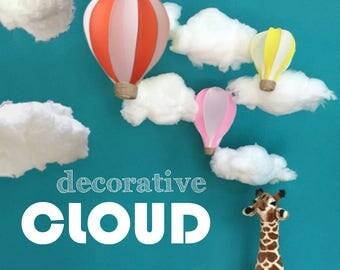 CLOUD Decor, Decorative Clouds - Hanging Deco - DIY Decoration Wedding, Party, Banquet, Baby Shower, Nursery, Window Display, Props