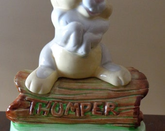 Vintage Disney Music Box, Musical Collectibles by Schmid, Walt Disney Thumper Figurine, Nursery Decor, Baby Shower Gift