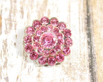 Pink rhinestone,Rhinestone flat back button,Rhinestone embellishment,Wedding brooch,Wedding inviation,DIY rhinestones,Pink rhinestone button