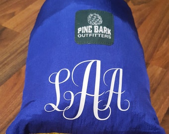 Personalized Double Nest Parachute Hammock / Monogrammed Hammock / Parachute Nylon Hammock