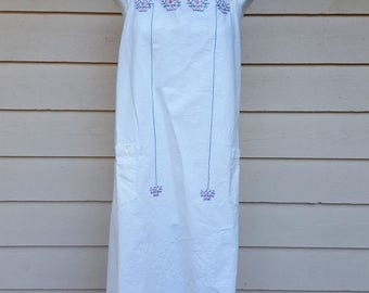 Cute Cotton Embroidered Full Apron