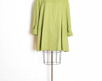vintage 80s jacket, trapeze jacket, babydoll jacket, swing jacket, dusky lime green, 1980s 80s clothing, beaded pearls, plus size jacket, XL