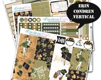 Saint Patricks Day Stickers, st pattys day Planner Kit 200+ Planner Stickers, for Erin Condren Sticker, irish Stickers #SQ00162-ECV