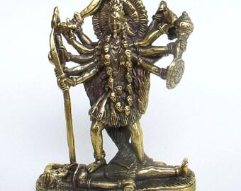 Kali Goddess Mini Statue Hindu Deity Amulet Parvati Mahavidyas #2