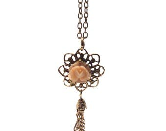 Gold & Rose Simple Necklace