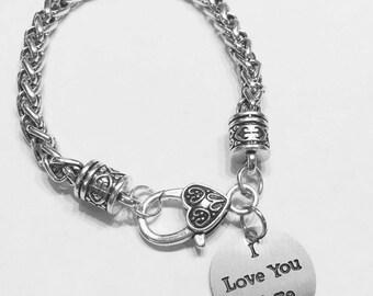 I Love You More Charm Bracelet, Valentine Gift, Wife Gift, Girlfriend Gift, Best Friend Gift, Best Friend Bracelet, Sister Mom Bracelet