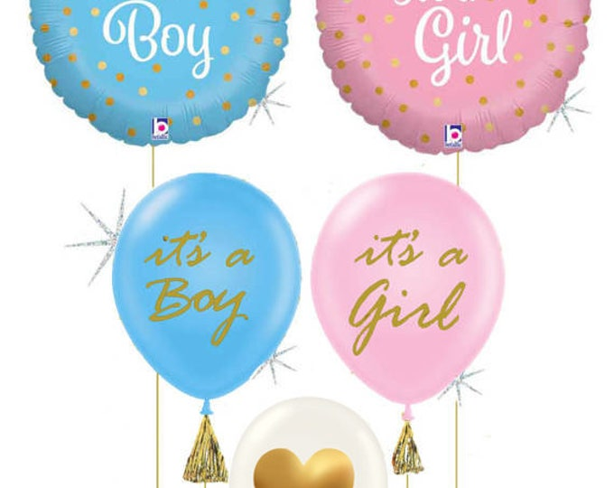 Baby Shower Balloons It's a Girl or It's a Boy, Gender Reveal Decor, Baby Shower Decor, It's a girl balloons, It's a boy balloons