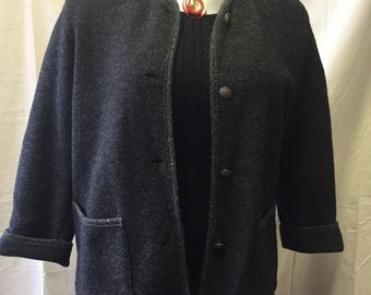 Vintage LL Bean Button Down Wool Jacket