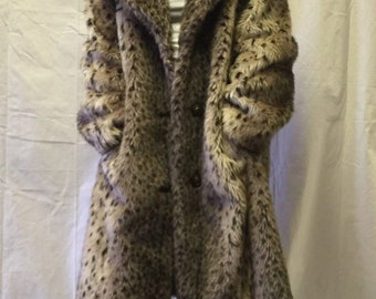 Vintage Animal Print Thick Pile Coat