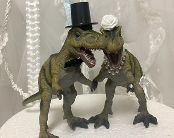 gold dinosaur wedding cake topper gold wedding cake topper dinosaur blush animal 14751