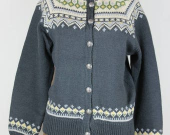 1960s Norwegian Hand Loomed Ski Sweater