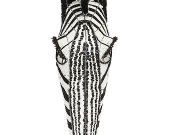 Beaded Zebra Wall Hanging