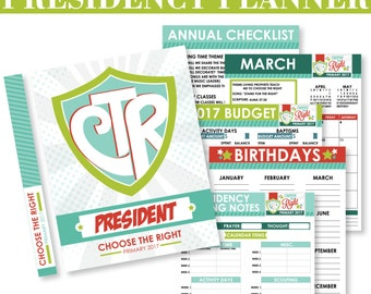 2017 LDS Primary Theme Presidency Planner