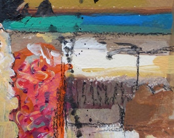 Original painting abstract art mixed media acrylic affordable small by Tracy Haines