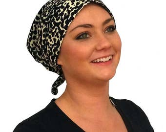 Gabrielle Pre-Tied Head Scarf -Women's Cancer Headwear, Chemo Scarf, Alopecia Hat, Head Wrap,  Head Cover for Hair Loss - Leopard