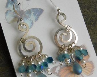 Blue Waves Mermaids' Treasure Earrings