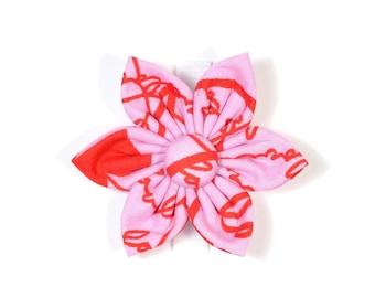 Valentine's Love Flower for Dog collar, Cat collar, collar flower, pet collar flower, wedding flower, flowers for dog collars