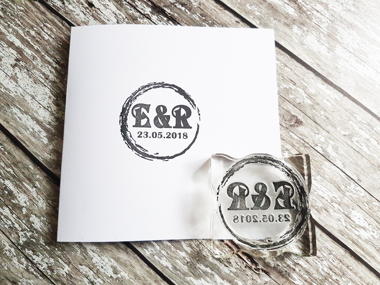 custom wedding stamp diy wedding stamp initials stamp