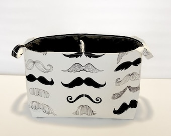 New Mustache Print Baby Diaper Caddy