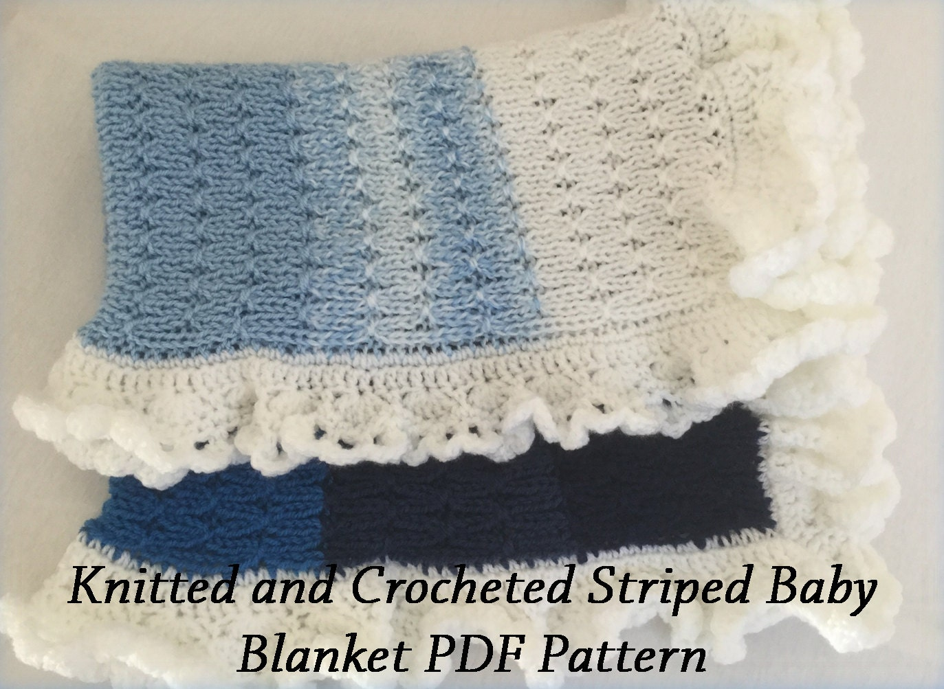 Very Easy Knitting Patterns For Baby Blankets : Very easy Baby Blanket Pattern PDF baby blanket Knitting