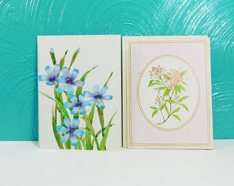 Etsy your place to buy and sell all things handmade vintage set of 2 floral note cards with envelopes blank greeting cards current inc m4hsunfo