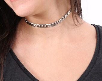 Choker Necklace - Choker For Women - Silver Choker -  Women's Necklace - Silver Necklace - Collar Necklace - Statement Necklace